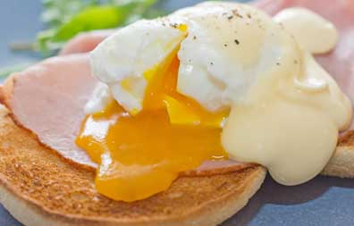 Eggs Benedict, Amberley  Cottage, Chudleigh, Devon, UK